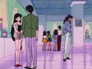 Rei and Mamoru at a romantic doll show
