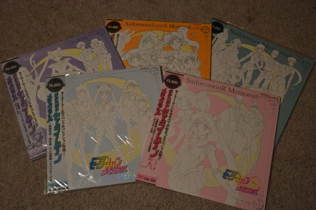 Sailor Moon Memorial laser discs
