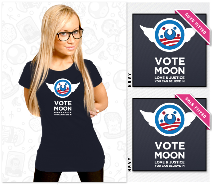 Moon for President! Shirt at Shirt Punch