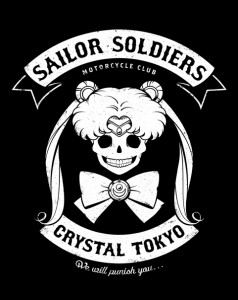 Moon's Angels - Sailor Moon biker shirt at Shirt Punch