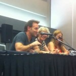 Vince Corazza, Susan Roman and Katie Griffin at Anime Revolution