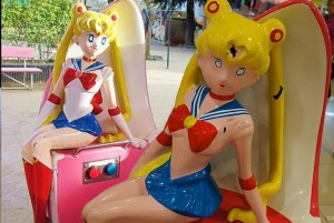 Creepy topless Sailor Moon statue mystery solved