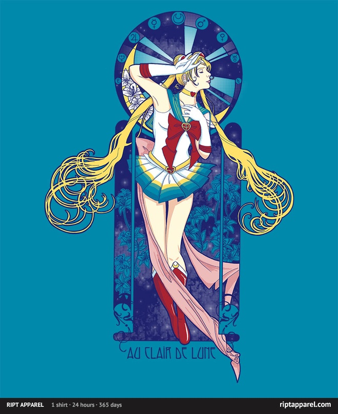 Ript Apparel Sailor Moon T-Shirt - Au clair de la lune