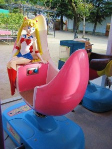 Sailor Moon children's ride paint intact