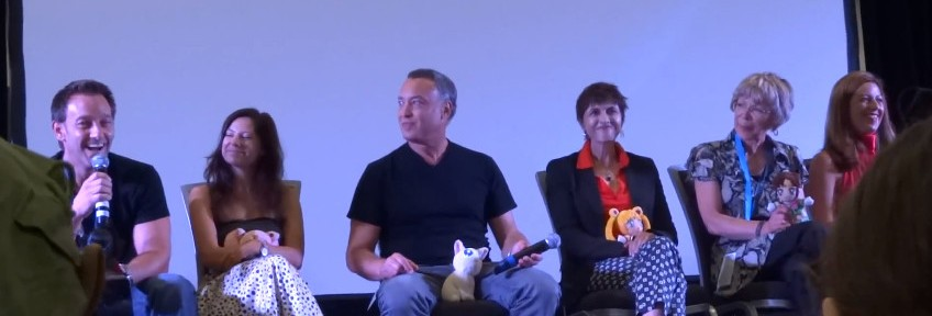 "Sailor Moon voice actor panel at Anime Revolution featuring Vince Corazza, Stephanie ""Sugar"" Beard, Ron Rubin, Terri Hawkes, Susan Roman and Katie Griffin"