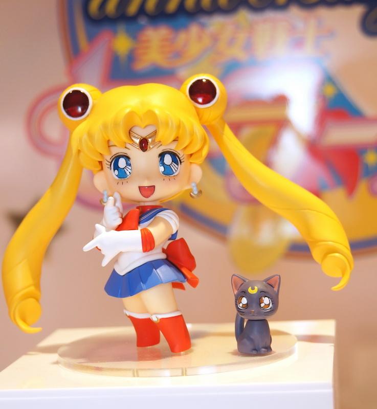 Bandai Chibi-Arts Sailor Moon and Luna figures