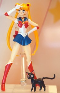Bandai Sailor Moon and Luna Figuarts figures