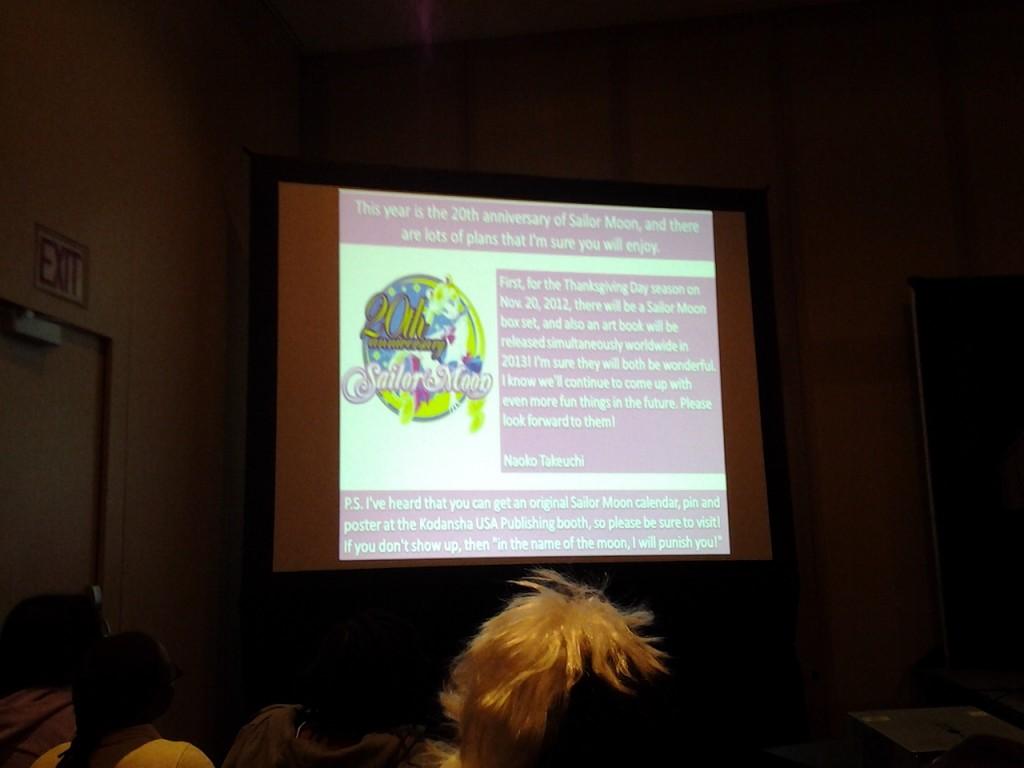Message from Naoko Takeuchi at Kodansha comics USA panel at New York Comic Con 2012