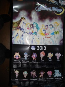 Sailor Moon calendar from New York Comic Con 2012