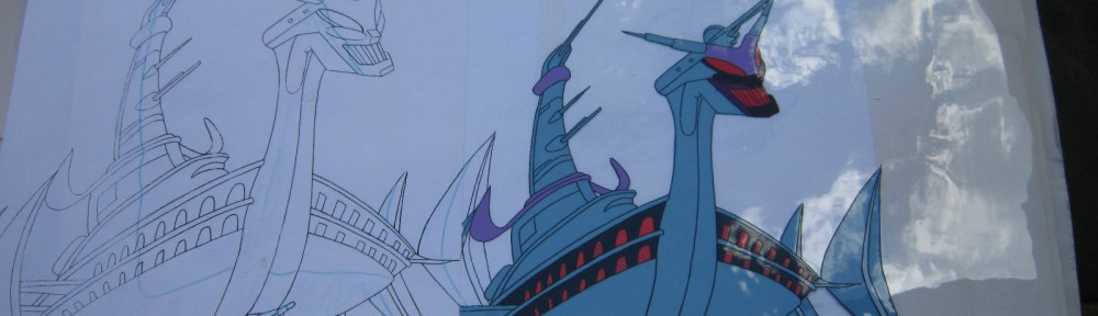Toon Makers' Sailor Moon cel - Queen Beryl's ship The Dark Galleon