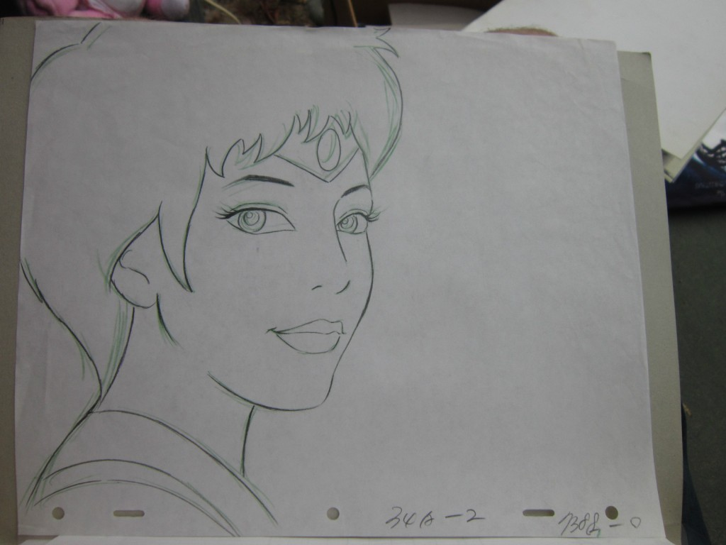 Toon Makers' Sailor Moon cel - Sailor Mars - Sketch