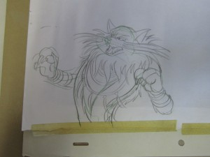 Toon Makers' Sailor Moon cel - Sketch of Werewolf - Rhett Butler as Youma Bakene (Saban Moon)