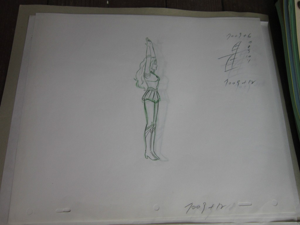 Toon Makers' Sailor Moon cel - Sailor Moon transforming - Sketch