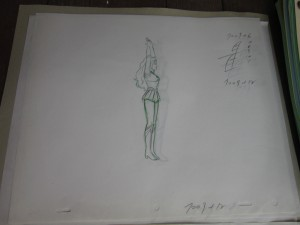 Toon Makers' Sailor Moon cel - Sailor Moon transforming - Sketch