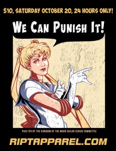 """We Can Punish It!"" Sailor Moon t-shirt at Ript Apparel"