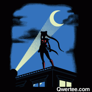 Moon Knight Rises - Batman/Sailor Moon shirt from Qwertee