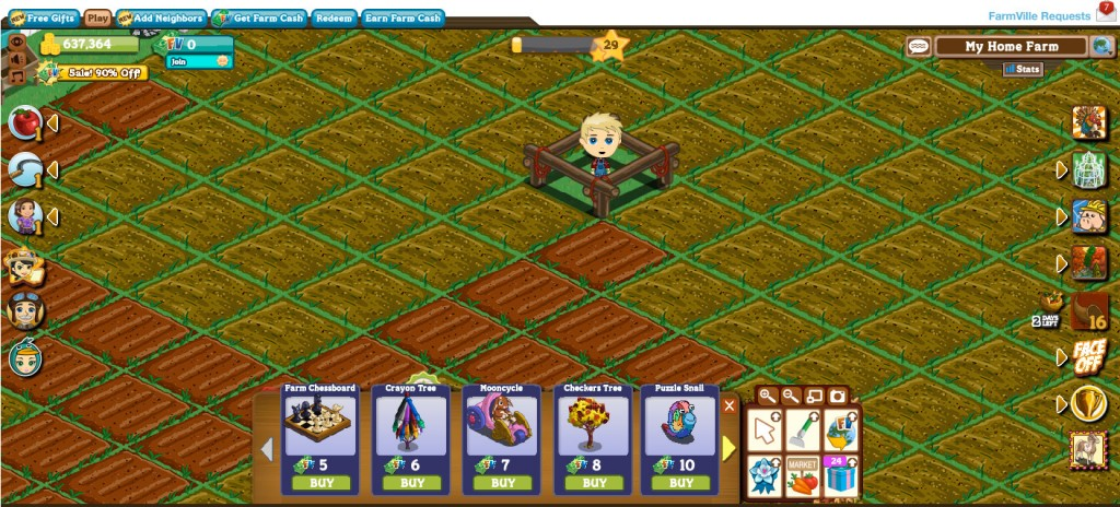 Mooncycle costs 7 FarmVille dollars