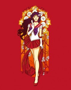 Sailor Mars - Art Nouveau - Spirit of Fire shirt by Eriphyle