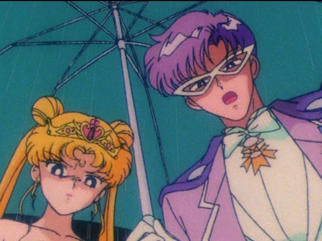 Sailor Moon - Neo Queen Serenity and King Endymion scolding Chibiusa