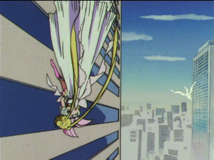 Sailor Moon - Pegasus rescues Princess Serenity and Super Sailor Chibi Moon