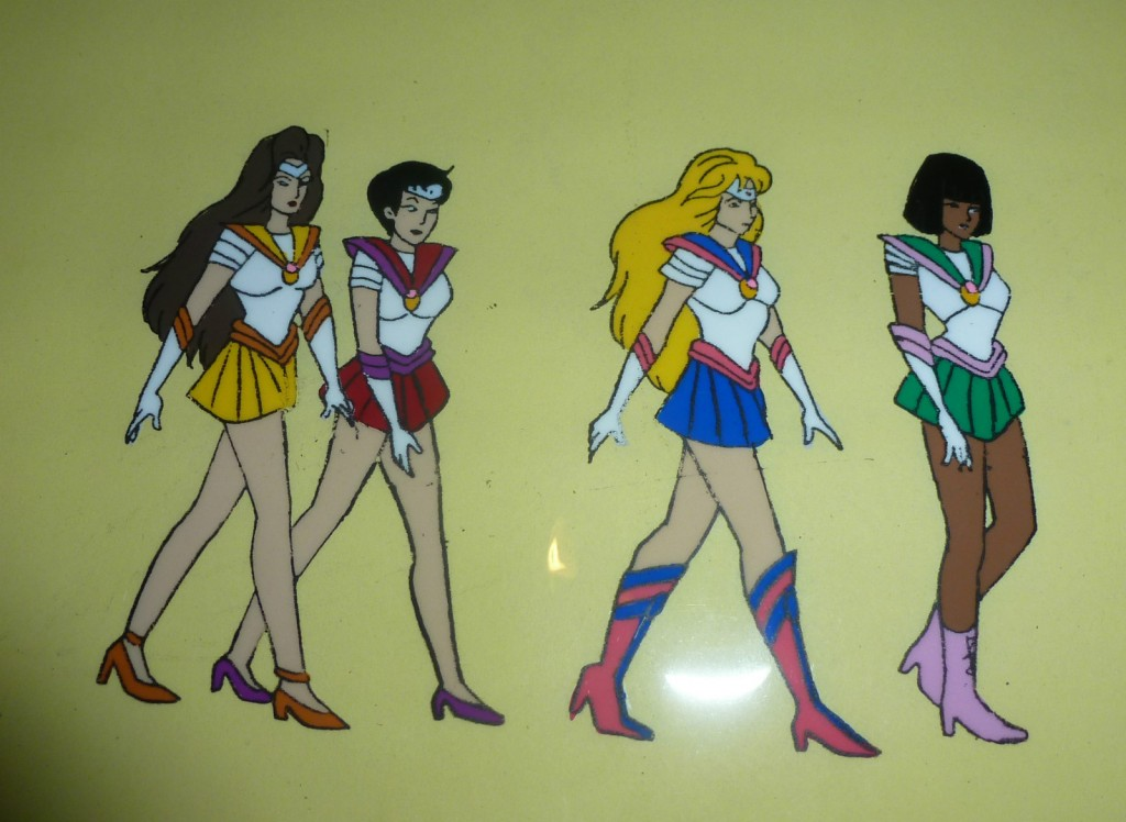 Toon Makers' Sailor Moon - Princess Warriors Sailor Venus, Sailor Mars, Sailor Moon and Sailor Jupiter (Saban Moon)