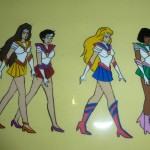 Toon Makers' Sailor Moon - Princess Warriors Sailor Venus, Sailor Mars, Sailor Moon and Sailor Jupiter (Saban Moon)