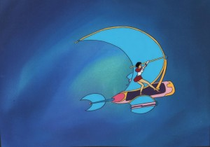 Toon Makers' Sailor Moon - Sailor Mars on her Sky Flyer