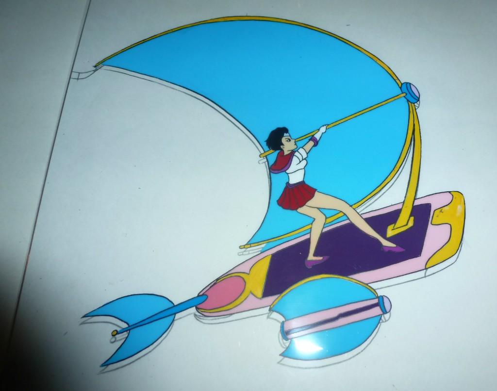 Toon Makers' Sailor Moon - Sailor Mars riding her Sky Flyer (Saban Moon)