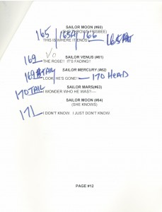 Toon Makers' Sailor Moon voice-over session script page 12