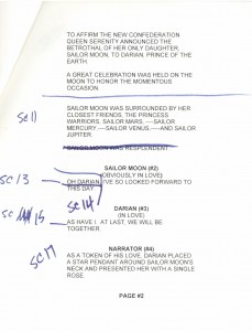 Toon Makers' Sailor Moon voice-over session script page 2