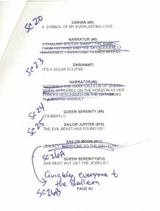 Toon Makers' Sailor Moon voice-over session script page 3