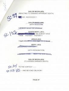 Toon Makers' Sailor Moon voice-over session script page 7