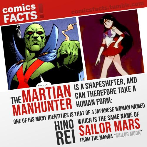 Comics Facts! Batman reads Sailor Moon