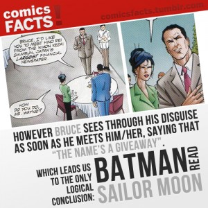 Comics Facts! Batman reads Sailor Moon