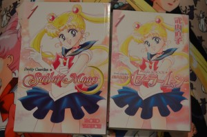 Sailor Moon manga volume 1 covers in English (left) and Japanese (right)