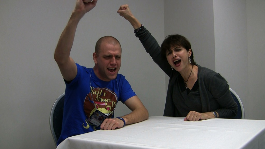 "Adam and Terri Hawkes screaming ""Moon Healing Activation"" at G-Anime 2013"