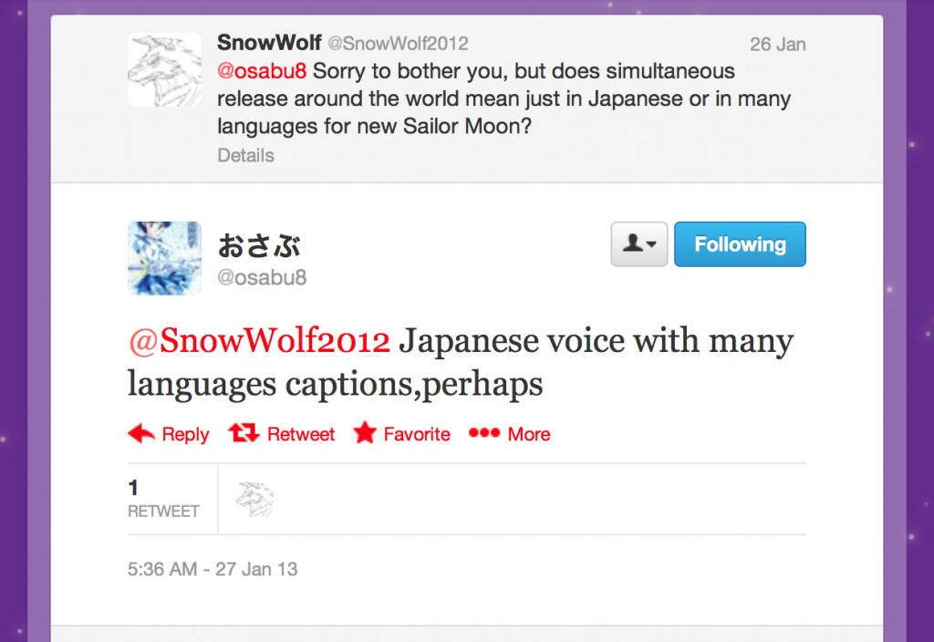 Japanese voice with many languages captions,perhaps - Tweet by @osabu8