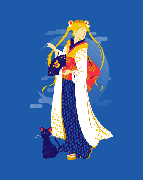 """Moon Geisha"" shirt available today at ShirtPunch"