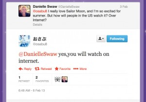 Fumio Osano, @osabu8, says US viewers will watch the 2013 Sailor Moon anime on the Internet