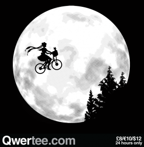 S.M. - Sailor Moon and E.T. shirt at Qwertee