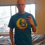 Adam wearing an Adventure Moon T-Shirt