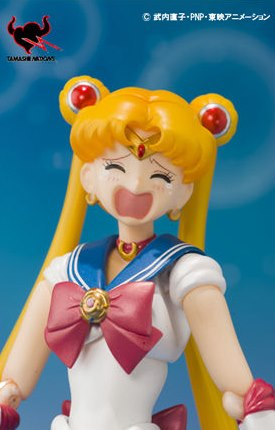 Sailor Moon figure crying face