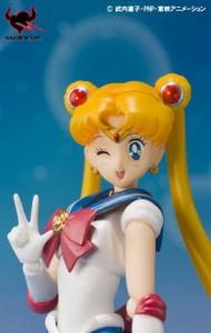 Sailor Moon figure winking face