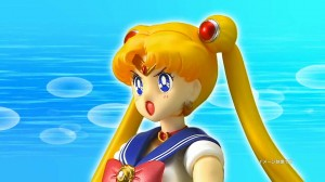 Bandai's S.H. Figuarts Sailor Moon figure commercial - Sailor Moon with her mouth open