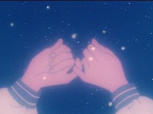 Kazuko Tadano and Hiromi Matsushita make a promise in the Sailor Moon anime