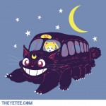 """Lunar Express"" shirt - Luna from Sailor Moon as the Cat Bus from My Neighbor Totoro"