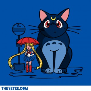 """My Neighbor Luna"" - Luna from Sailor Moon as Totoro"