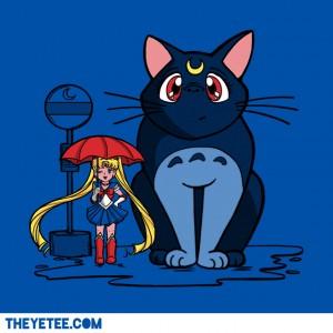 """My Neighbor Luna"" - Luna from Sailor Moon as Totoro"