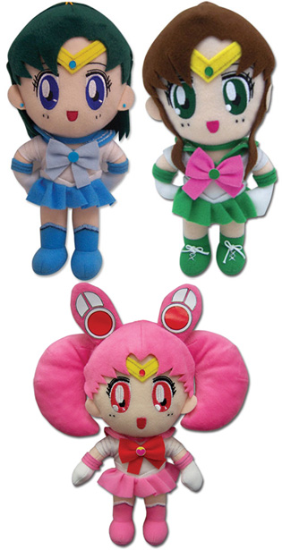 New plush toys from GE Animation - Sailor Mercury, Sailor Jupiter, Sailor Chibi Moon