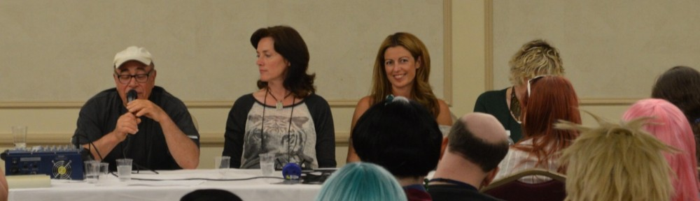 Sailor Moon Voice Actors' Q&A panel at Anime North 2013 featuring John Stocker, Linda Ballantyne, Katie Griffin and Susan Roman